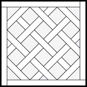 Parquet Patterns Collection Outline Illustration